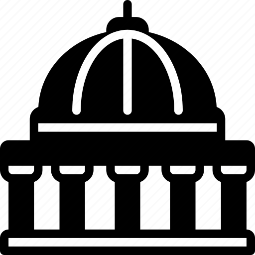 architecture, building, buildings, government, library icon