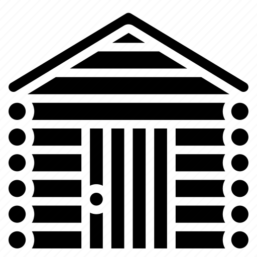 architecture, building, buildings, cabin, log icon