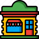 architecture, bar, building, buildings, shop, store icon