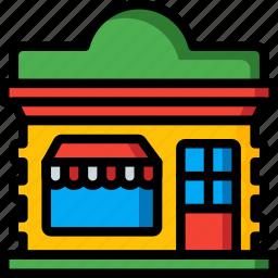 architecture, bar, building, buildings, shop, store icon