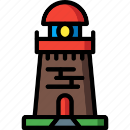 architecture, building, buildings, house, light, tower icon