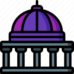 architecture, building, buildings, government, museum icon