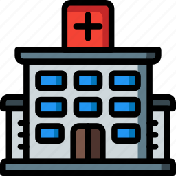 architecture, building, buildings, centre, hospital, medical icon