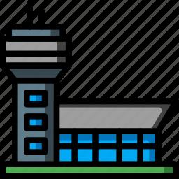 airport, architecture, building, buildings, hanger icon