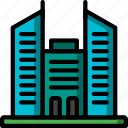 architecture, blocks, building, buildings, hire, office, rise icon