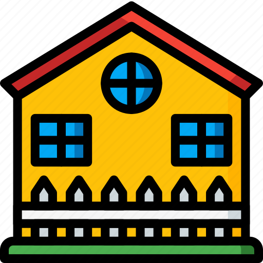 architecture, building, buildings, fenced, home, house icon