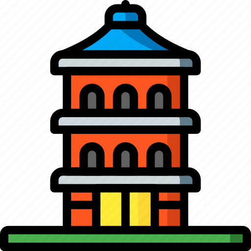 architecture, building, buildings, pagoda icon