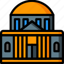 architecture, bank, building, buildings icon