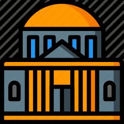 architecture, bank, building, buildings icon