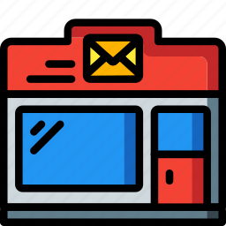 architecture, building, buildings, office, post, postal icon
