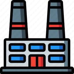 architecture, building, buildings, factory, power, station icon