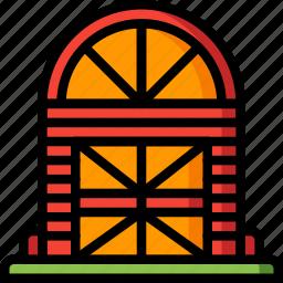 architecture, barn, building, buildings, farm icon