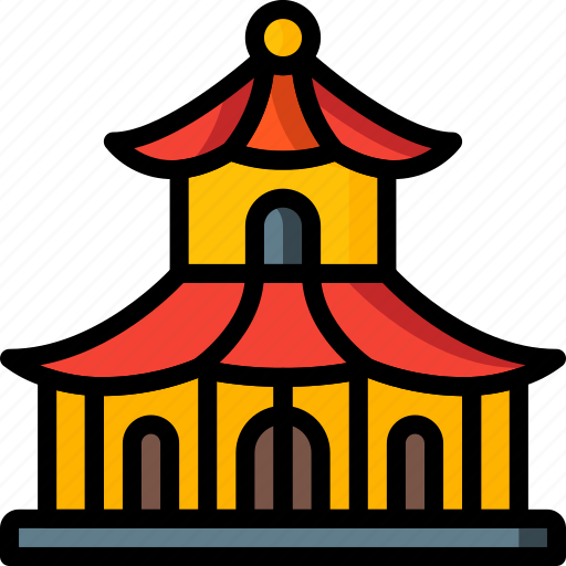architecture, building, buildings, pagoda icon