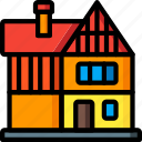 architecture, building, buildings, home, house, tudor icon