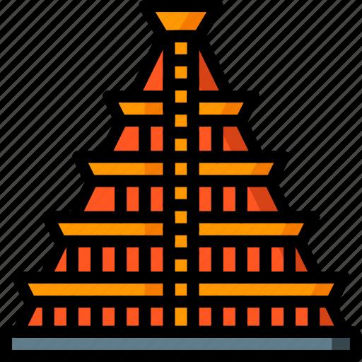 architecture, building, buildings, mesoamerican, pyramid icon