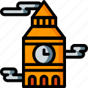 architecture, ben, big, building, buildings, clock, tower icon