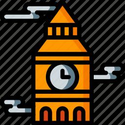 architecture, ben, big, building, buildings, clock, tower icon