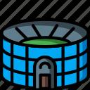 architecture, building, buildings, sports, stadia, stadium icon