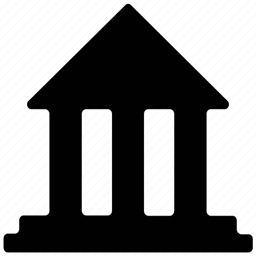 bank, building, estate, office icon