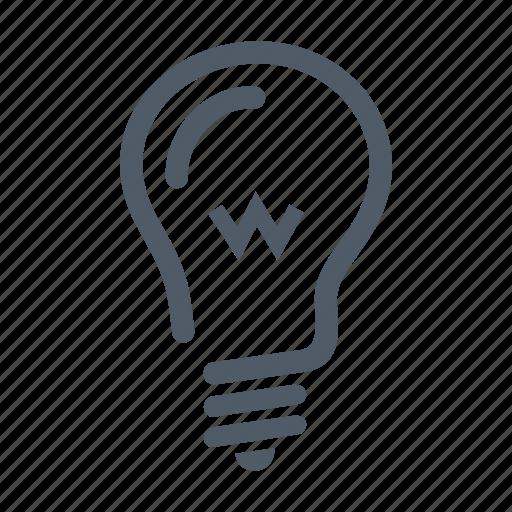 bulb, creative, electricity, energy, idea, lamp, light icon