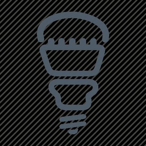 bulb, diode, lamp, led, led lamp, light, technology icon
