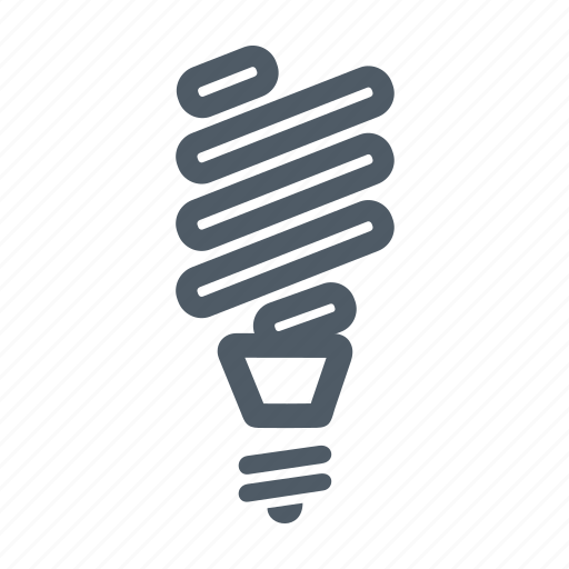 bulb, ecological, electric, electricity, fluorescent lamp, lamp, light icon