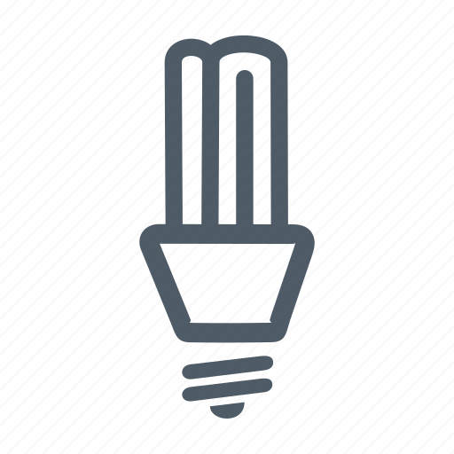 bulb, electric, electricity, energy, fluorescent lamp, lamp, light icon