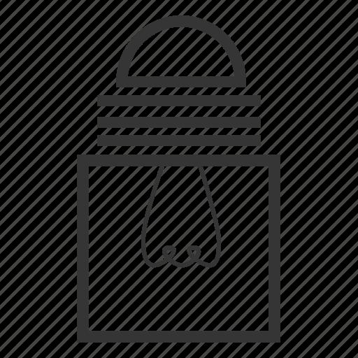 bulb, logo, square, square bulb, square shape icon