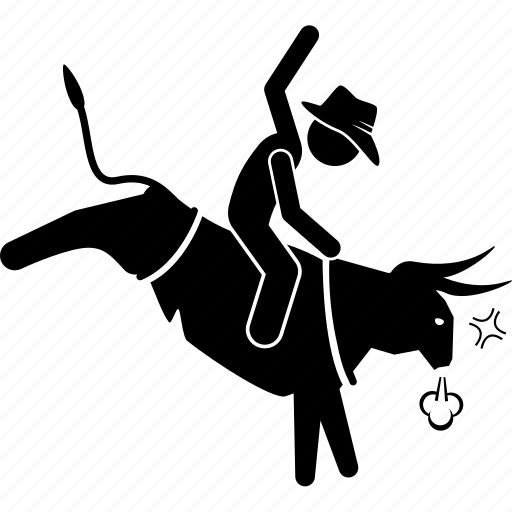Bull, cowboy, rodeo icon - Download on Iconfinder