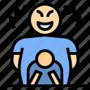 boss, businessman, harassment, threat, thug, violation icon