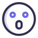 astonished, emoji, expression, amazed icon
