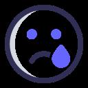 expression, emoji, crying, sad icon