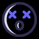 emoji, die, face, dizzy icon