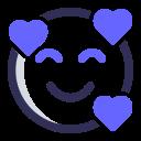 hearts, expression, emoji, in love icon