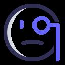 expression, emoji, monocle, examine icon