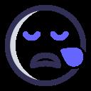 expression, emoji, face, sleepy icon
