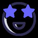 expression, emoji, emoticon, stars icon