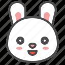 animal, avatar, bunny, emoji, rabbit, smile icon