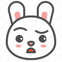 animal, avatar, bunny, doubt, emoji, rabbit icon