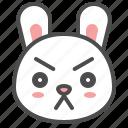 animal, avatar, bunny, emoji, rabbit, serious icon