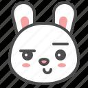 animal, avatar, bunny, emoji, rabbit, smirk icon