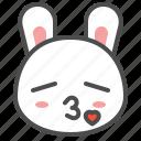 animal, avatar, bunny, emoji, kiss, rabbit