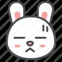 animal, avatar, bored, bunny, emoji, rabbit icon
