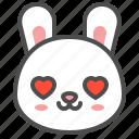 animal, avatar, bunny, emoji, love, rabbit icon