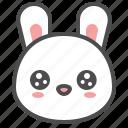 animal, avatar, bunny, emoji, pity, rabbit icon