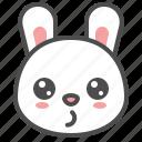 animal, avatar, bunny, emoji, rabbit, whistling icon