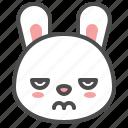 angry, animal, avatar, bunny, emoji, rabbit icon