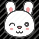 animal, avatar, bunny, emoji, rabbit icon