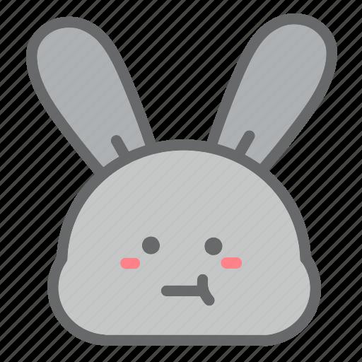 animal, bunny, easter, egg, emoji, face, rabbit icon