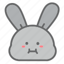 animal, bunny, easter, egg, emoji, face, rabbit